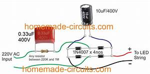 4 Simple Transformerless Power Supply Circuits Explained