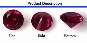 Wuzhou beautiful synthetic red original ruby stone prices ...