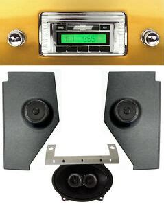 1947 1953 chevy truck radio dash speaker kick panels w speakers aux 230 ebay