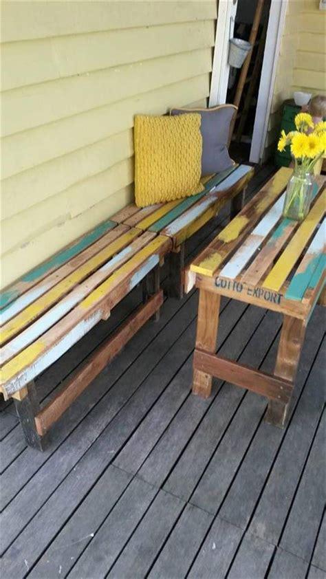 pallet outdoor breakfast set patio furniture easy