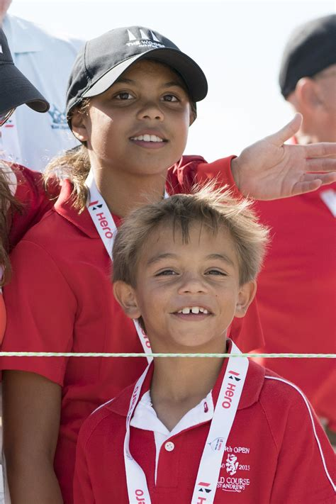 Tiger Woods' kids and new girlfriend cheered his final ...