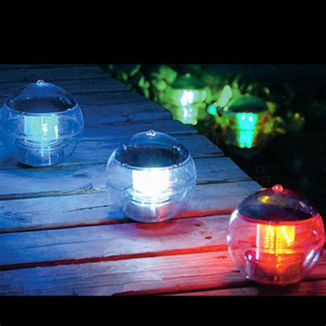 solar floating multi led light water swimming pool ebay