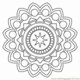 Coloring Mandala Printable Mandalas Islamic Corner Simple Therapy Seniors Drawing Flowering Shapes Sheets Adult Arts Para Adults Creative Imprimir Pattern sketch template