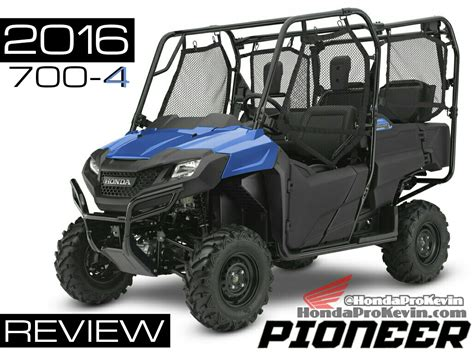2016 Honda Pioneer 700-4 Review Of Specs / Development