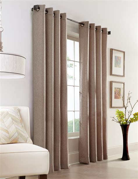 grommet curtain panels the faux jute grommet curtain panels thecurtainshop