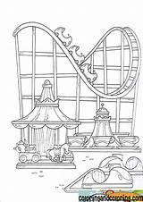 Coloring Amusement Theme Drawing Coaster Roller Parks Fair Pinworld Colouring Paper Sheets Sheet Carousel Yahoo Tk Para Shelton sketch template