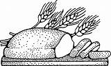 Bread Colouring Loaf Coloring Line Drawing Clipart sketch template