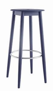 Tabouret De Bar 65 Cm : tabouret de bar oto h 65 cm bois bleu ondarreta ~ Teatrodelosmanantiales.com Idées de Décoration