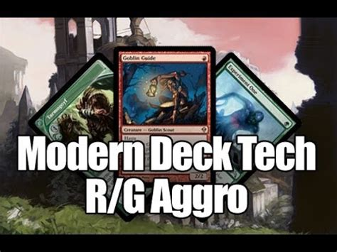 Mtg Aggro Deck Modern by Mtg Modern Deck Tech R G Aggro