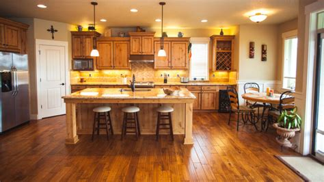 kitchen cabinets with light wood floors 34 kitchens with wood floors pictures 9838