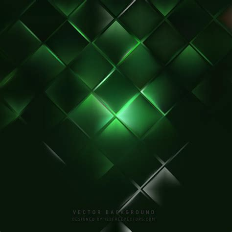 Dark Green Square Background