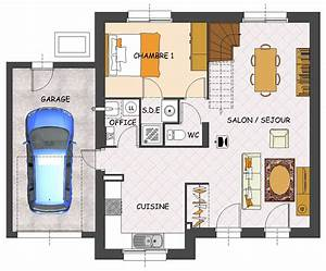 Plan Maison 1 Chambre 1 Salon : construction maison neuve muguet lamotte maisons ~ Premium-room.com Idées de Décoration