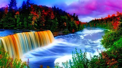 Beautiful Waterfall And Rainbow Weneedfun