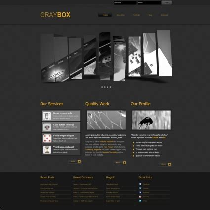 blackand white template joomla mediafire gray box free website templates in css html js format