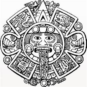 Mayan Calendar Coloring Page Coloring Pages