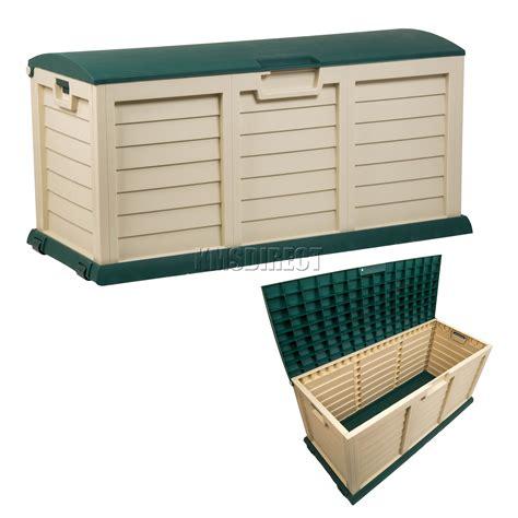 starplast outdoor garden plastic storage chest cushion
