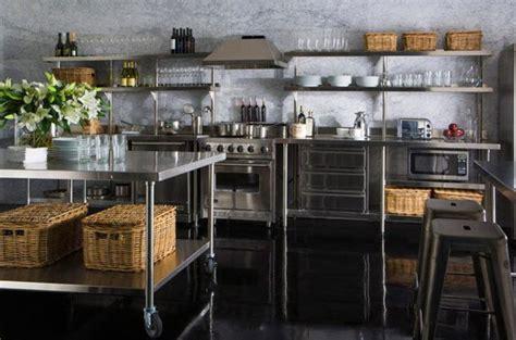 metal kitchen racks metal kitchen 15 dramatic kitchen designs with stainless steel shelves