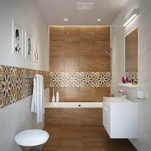 carrelage salle de bain imitation bois 34 idees modernes With idee salle de bain carrelage