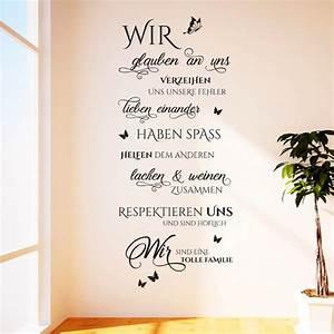 Leinwandbild Mit Spruch : wandtattoos tolle spr che motive f r wohnzimmer ~ Sanjose-hotels-ca.com Haus und Dekorationen