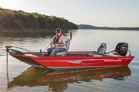 Stik It Boats by 2016 New Crestliner 1657 Outlook Stick Steer Poly Utility