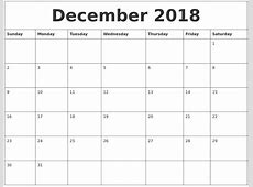 Google Docs Calendar December Template 2018 Best