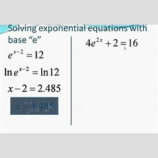 Solving Natural Log Equations Youtube