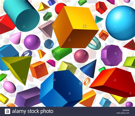 Shapes Background Geometric Shapes Background And Geometry Concept As Basic