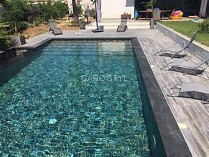 margelle de piscine en pierre de lave noire epaisseur 6 cm With pierre naturelle pour piscine