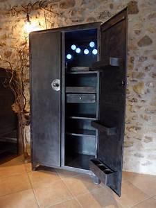 Meuble Industriel Vintage : meuble metallique vintage table de lit ~ Teatrodelosmanantiales.com Idées de Décoration