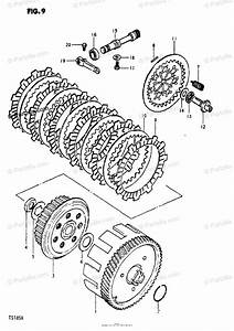 Suzuki Motorcycle 1980 Oem Parts Diagram For Clutch