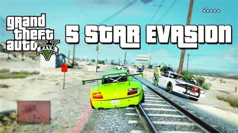 gta   star wanted level evasion police chase youtube