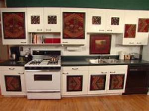 clever kitchen ideas cabinet facelift hgtv With kitchen cabinets lowes with large print fabric for wall art