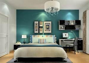 Petrol Wandfarbe Schlafzimmer : wandfarbe petrol 56 ideen f r mehr farbe im interieur ~ Buech-reservation.com Haus und Dekorationen