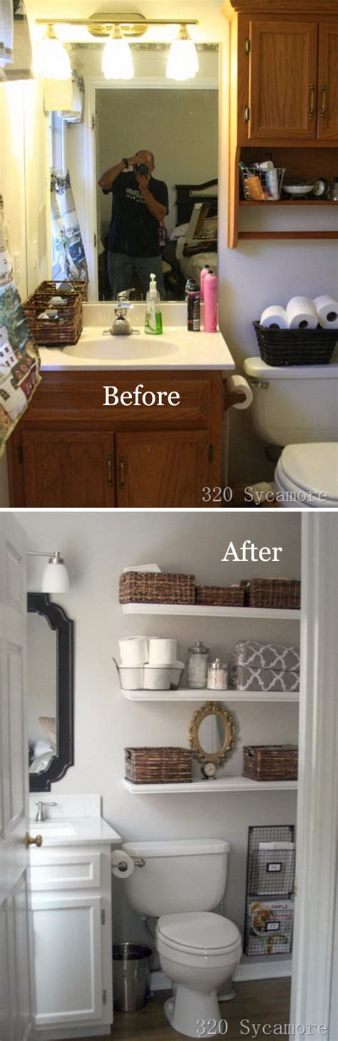 Pics Of Bathrooms Makeovers by 37 Small Bathroom Makeovers Before And After Pics Home