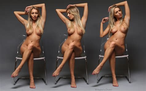 Wallpaper Hayley Marie Blonde Three Collage Naked