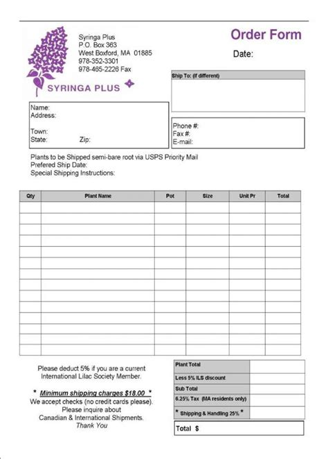 wholesale order form template template business