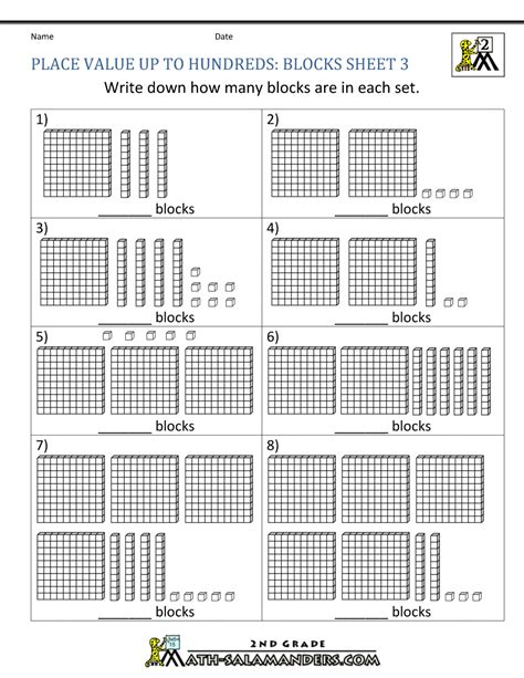 second grade place value worksheets 2nd pics worksheet