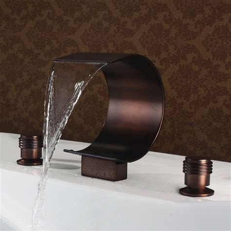 waterfall tub faucet mooni waterfall tub faucet rubbed bronze