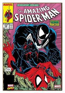 "13"" x 19"" Venom vs Spider-Man Wood Wall Décor  Spiderman"