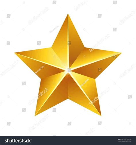 Gold Star Stock Vector 184177205 Shutterstock