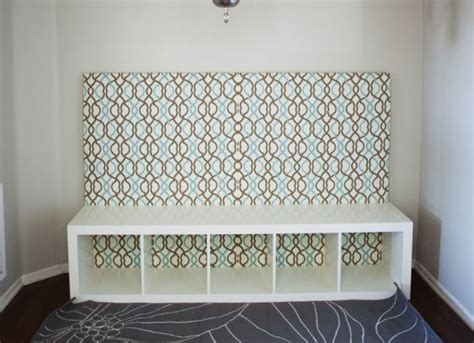 banquette diy 19 in tall expedit ikea shelf and