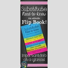 Substitute Info Flipbook (editable Flip Book)  Colored Paper, Chang'e 3 And Paper