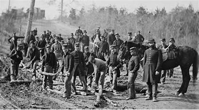 Union Soldiers Building Corduroy Road Richmond 1862
