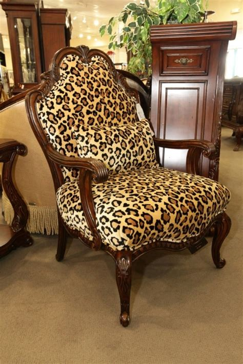 leopard print accent chair cool house stuff
