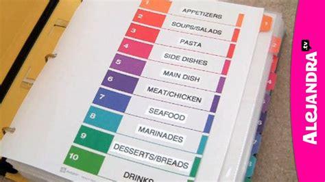 neat receipts recipe organizer how to organize recipes in a binder