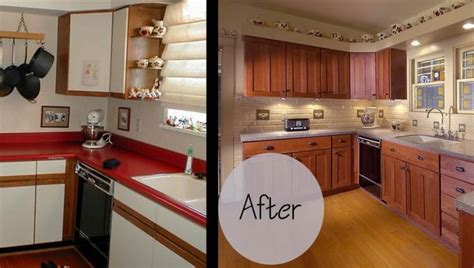 refinished cabinets before and after kitchen cabinet refacing before and after photos google 155