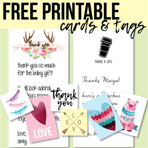 thank you for hosting card template free printable thank you cards and tags for favors and gifts