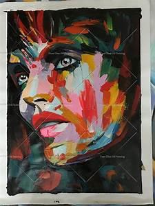Peinture Visage Femme : acheter main peinture moderne femme portrait peinture homme visage peinture ~ Melissatoandfro.com Idées de Décoration