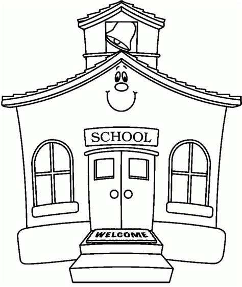 school coloring page school building coloring pages coloring home