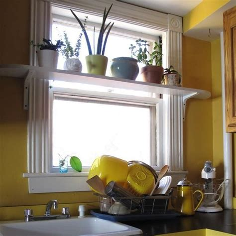 Small Plants For Kitchen Window by 25 Creative Window Decorating Ideas With Open Shelves